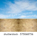 Sky Clouds Over Stone Fence