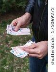 Turkish  Man Counting Money