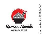 ramen noodle food   Shutterstock .eps vector #575076865