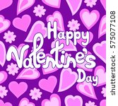 happy valentine's day greeting... | Shutterstock .eps vector #575077108