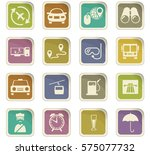 travel icon set for web sites... | Shutterstock .eps vector #575077732