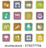 theater icon set for web sites... | Shutterstock .eps vector #575077756