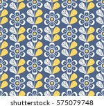 seamless retro pattern with... | Shutterstock .eps vector #575079748
