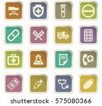 medical icon set for web sites... | Shutterstock .eps vector #575080366