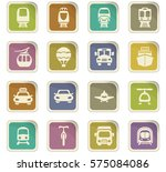 public transport icon set for... | Shutterstock .eps vector #575084086