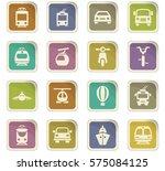 public transport icon set for... | Shutterstock .eps vector #575084125