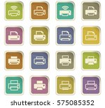 print icon set for web sites... | Shutterstock .eps vector #575085352
