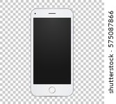 white smart phone with blank... | Shutterstock .eps vector #575087866