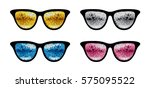 set of glasses for a party  ... | Shutterstock .eps vector #575095522