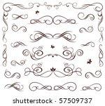 cute wedding stencil | Shutterstock .eps vector #57509737