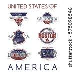 america state emblem label badge | Shutterstock . vector #575098546