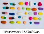 colorful pills medicine on...   Shutterstock . vector #575098636