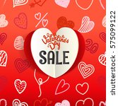 valentines day special offer... | Shutterstock .eps vector #575099122