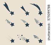 falling  stars vector set icons ... | Shutterstock .eps vector #575099788