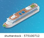 luxury cruise ship. a modern... | Shutterstock .eps vector #575100712