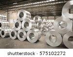 3d rendering roll of steel...   Shutterstock . vector #575102272
