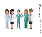 medical professionals icon | Shutterstock .eps vector #575102842
