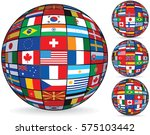 world flags on globe. usa ... | Shutterstock .eps vector #575103442