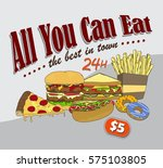 food and drink theme poster | Shutterstock . vector #575103805