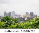 roof garden | Shutterstock . vector #575107732