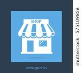 shop vector icon   Shutterstock .eps vector #575109826