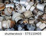 galvanized fittings | Shutterstock . vector #575110405