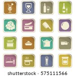 food and kitchen symbol for web ... | Shutterstock .eps vector #575111566