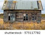 old wooden decrepit shabby... | Shutterstock . vector #575117782