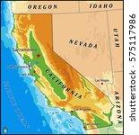 california physical vector map   Shutterstock .eps vector #575117986