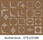 frames. decorative elements.... | Shutterstock .eps vector #575125288