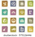 alternative energy icons set... | Shutterstock .eps vector #575126446