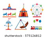 set icons amusement park... | Shutterstock .eps vector #575126812