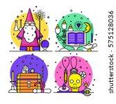 magic illustration. sparkle...   Shutterstock .eps vector #575128036