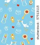 pattern with newborns...   Shutterstock .eps vector #57513115
