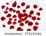 valentines day gift in silver... | Shutterstock . vector #575134186