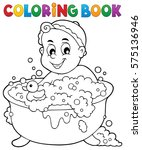 coloring book baby theme image... | Shutterstock .eps vector #575136946