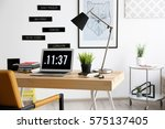 comfortable workplace in office   Shutterstock . vector #575137405