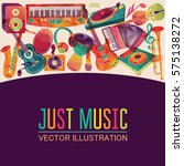 colorful music background.... | Shutterstock .eps vector #575138272