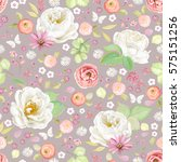 seamless pattern with white... | Shutterstock .eps vector #575151256