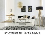 white home interior with sofa ... | Shutterstock . vector #575152276