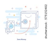 save money creative icon... | Shutterstock .eps vector #575152402