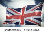 Flag Of Uk. Close Up. Front...