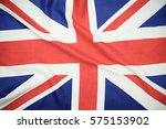 flag of uk. close up. front... | Shutterstock . vector #575153902