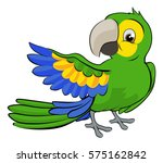 a cute cartoon parrot mascot... | Shutterstock .eps vector #575162842