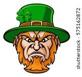 tough cartoon leprechaun st...   Shutterstock .eps vector #575162872