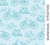 bike  skate  rollers. seamless... | Shutterstock .eps vector #575167102