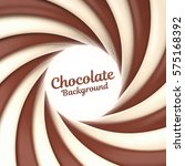 chocolate swirl background with ... | Shutterstock .eps vector #575168392