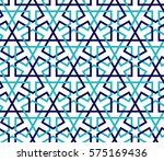 islamic color blue pattern.... | Shutterstock .eps vector #575169436