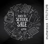 back to school sale background. ... | Shutterstock .eps vector #575173198