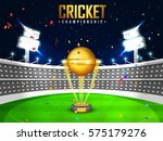 view of a cricket stadium in... | Shutterstock .eps vector #575179276